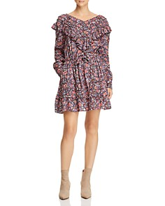 Rebecca Taylor - Ruffled Floral-Print Dress